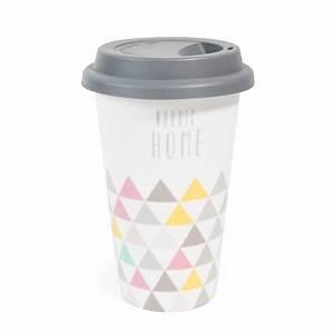 Tasse à Café Maison Du Monde : mug de voyage en porcelaine nordic home maisons du monde ~ Teatrodelosmanantiales.com Idées de Décoration