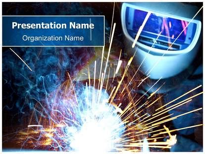 welding spatter powerpoint template background