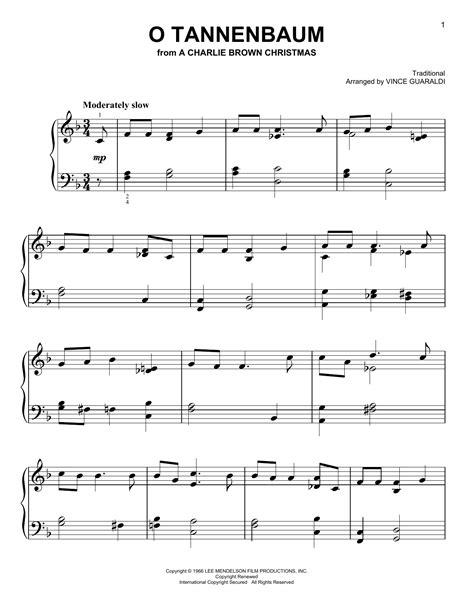 vince guaraldi trio o tannenbaum partition piano o tannenbaum de vince guaraldi piano facile