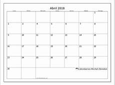Calendarios abril 2018 LD Michel Zbinden es