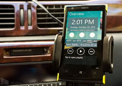 carstand an easy access dashboard app for windows phone 8 windows central