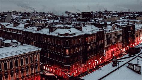full hd wallpaper saint petersburg winter aerial view