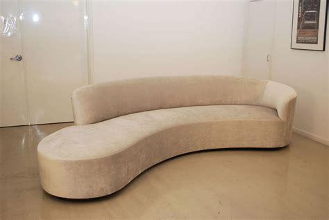 curved sofas classic design vladimir kagan inspired curved sofa