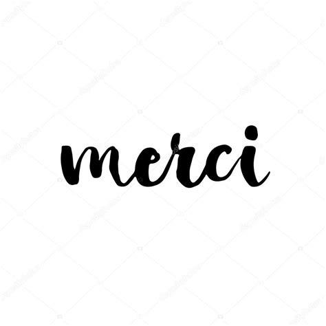french language merci lettering stock