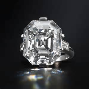 Art Deco Asscher Cut Diamond Ring