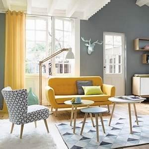 Deco Salon Maison Du Monde : d co color e dans un petit salon r tro ~ Teatrodelosmanantiales.com Idées de Décoration