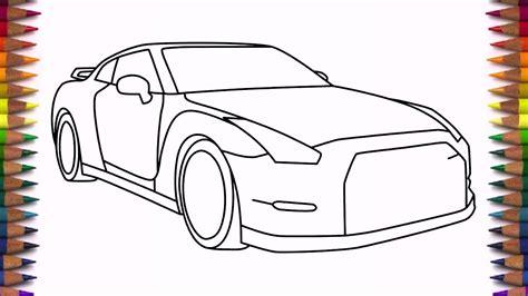 nissan skyline drawing step by step drawn car nissan pencil and in color drawn car nissan