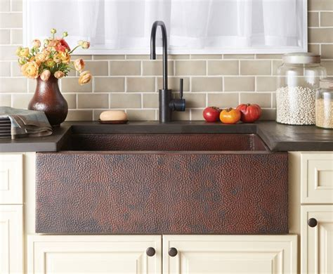 white kitchen farmhouse sink copper farmhouse sink add a rustic touch the 1372