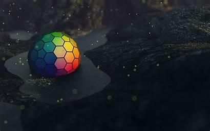Abstract Deviantart Fantasy Hexagon Cgi Object Colorful