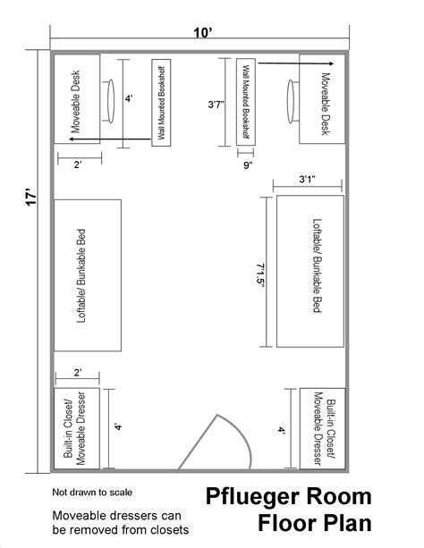 room floor plan pflueger floor plans department of residential