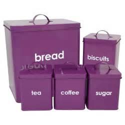 purple canisters for the kitchen wilko kitchen storage set purple 5 at wilko com