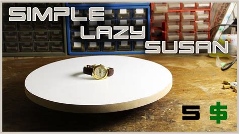 """Make A Simple Rotating Table """"lazy Susan"""" Youtube"""