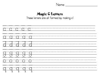 magic  handwriting practice   letter formation