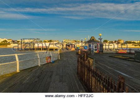 Pier Boxing by Amusements Clacton On Sea Pier Essex England Stock Photo