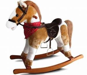 Cheval A Bascule Rose : acheter un cheval bascule en peluche ~ Teatrodelosmanantiales.com Idées de Décoration