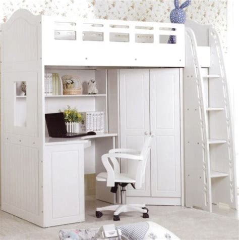 what an idea loft bed with desk and closet bedroom
