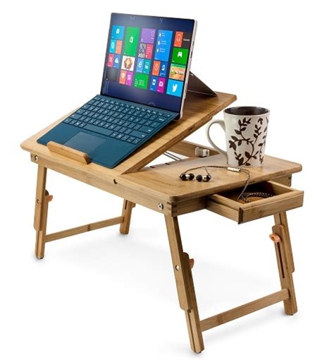 33067 laptop table for bed bamboo adjustable laptop stand up to 15 in