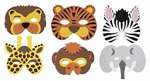 assorted soft jungle animal mask each With jungle animal mask templates