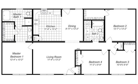 4 bedroom house plan house plans with 4 bedrooms marceladick