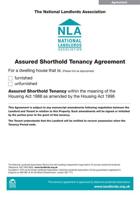 tenancy shorthold agreement