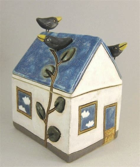 Ceramic House by Cloudy Day Ceramic House Box By Elukka On Etsy