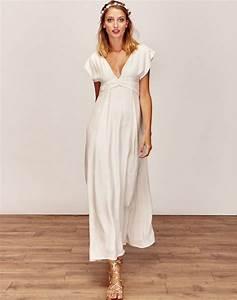 Robe Blanche Longue Boheme : robe boheme blanche robe de maia ~ Preciouscoupons.com Idées de Décoration