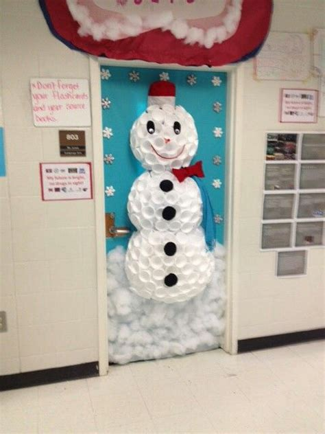 Office Door Christmas Decorating Contest by Winter Wonderland Door Decoration Classroom Decor