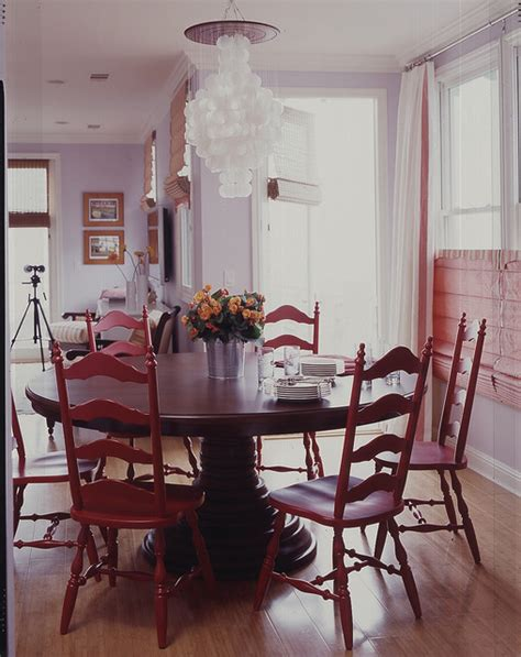 vintage chairs in dining room eclectic dining room