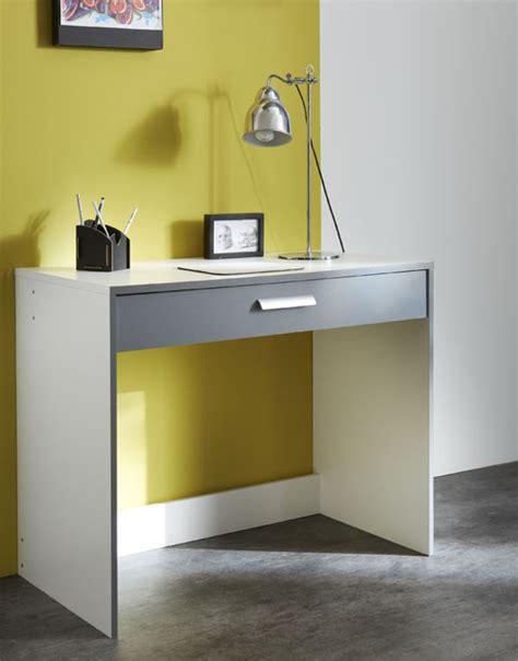 bureau basika bureau 1 tiroir george blanc gris graphite