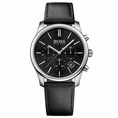 Boss Hugo Steel Leather Strap Stainless