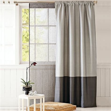 2 tone curtains love the two tone curtain perfect for a room with high ceilings to draw them down and make feel