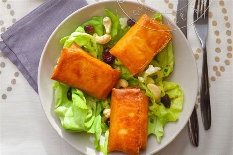 brick cuisine ma salade de bri brick croustillants de brie en feuille de brick cuisine addict cuisine