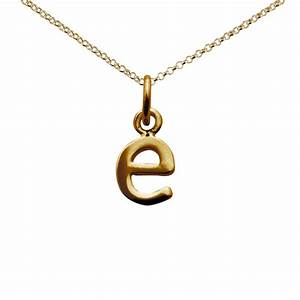 personalised gold plated letter e necklace lily charmed With letter e pendant gold