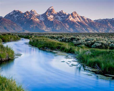 grand teton national park wyoming usa river mountains
