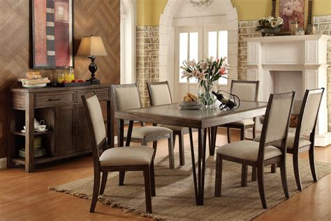 caithe rustic oak rectangular dining room from furniture of america coleman furniture