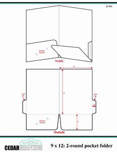 How to plan a 9 x 12 two rounded pocket folder for Pocket folder template illustrator