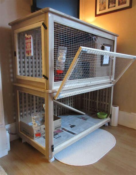 Indoor Rabbit Hutch - indoor rabbit cage made from 2 ikea storage tables ikea