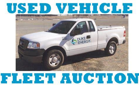 duke energy fleet vehicle  equipment  sale  public auction  concord nc
