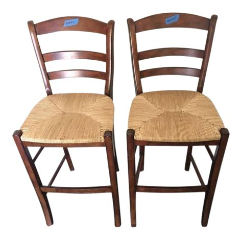 pottery barn counter stools pottery barn contemporary bar stools a pair chairish