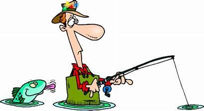 Fishing Clipart Cartoon Boat Clip Funny Fish