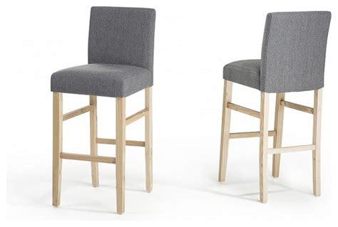 chaise de bar grise chaise haute cuisine grise