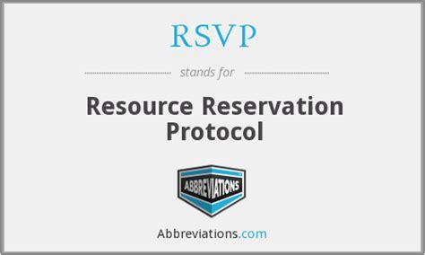 rsvp stands for rsvp resource reservation protocol