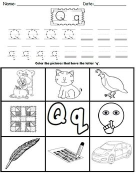 letter q worksheets by kindergarten swag teachers pay teachers
