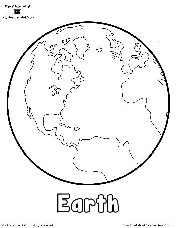 planet earth printable outlines and shape book writing
