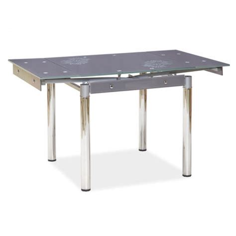 quot quot grey glass extendable dining table 4 chairs
