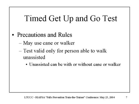 up test timed get up and go test