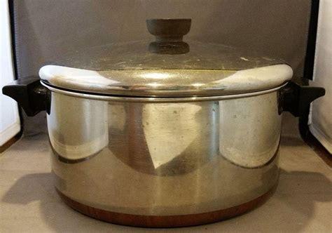 vintage revere ware   qt dutch oven  cookware copper clad  hoosiercollectibles