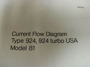 1981 Porsche 924  U0026 Turbo Coupe Electrical Wiring Diagram