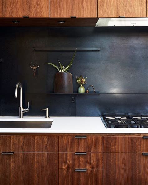 Metal Backsplash Kitchen by Quot The Metal Backsplash And Drawer Pulls Were Fabricated By