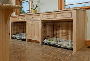 built in dog crates home made modern With desk dog crate